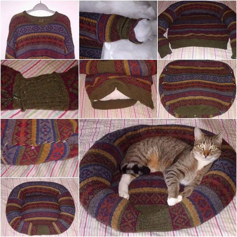 подушка для кошек своими руками фото пошагово старается держать